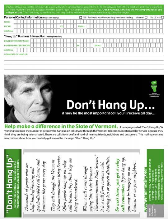 Don't Hang Up Postcard
